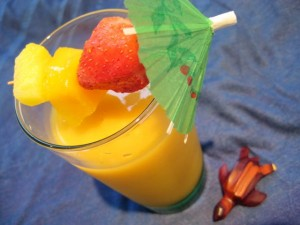 Peach, Pineapple & Mango Smoothie