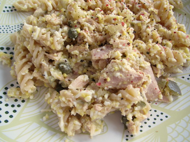 Tuna Salad with Capers & Pickles