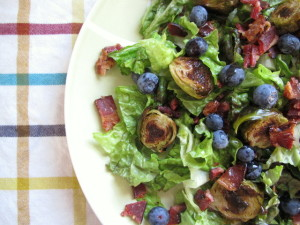 Bacon, Blueberry & Brussels Sprout Salad