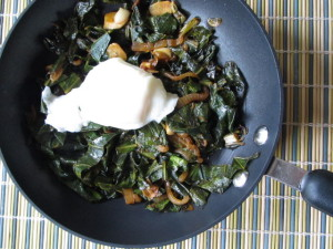 Ethiopian Spiced Collards with Poached Egg