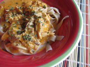 Maffé Chicken with Pasta