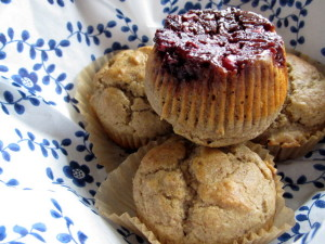 Upside-Down Cranberry Muffins