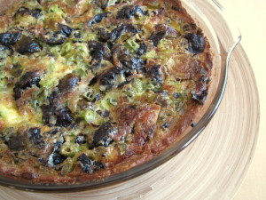Quiche with Roasted Brussels Sprouts