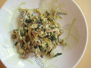 Anchovies with Basil & Eggs