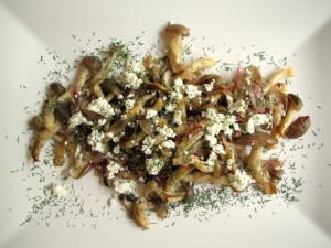 Beech Mushrooms with Feta & Dill