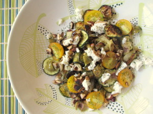 Roasted Veggies with Toasted Hazelnuts & Blue Cheese
