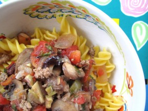 Lamb Bolognese with Mushrooms & Olives
