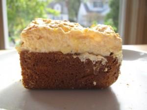 Pumpkin Spice Cake with Yogurt Buttercream Frosting