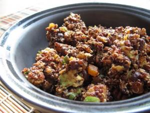 Southwestern Quinoa, Squash & Pecan Toss