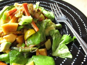 Butter Lettuce with Persimmon & Avocado