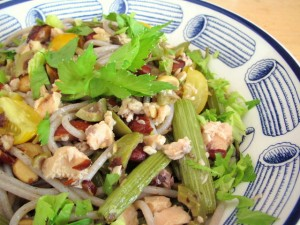 Roasted Celery, Olives & Wild Salmon with Pasta